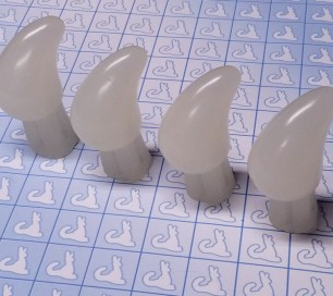 Resin Claw - Feet 114MM - Pre-made (Bone, Set of 4)