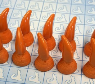 Resin Claws - Hands - Pre-made (Orange x10)