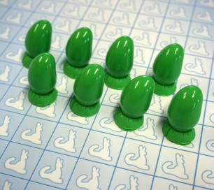 Resin Claws - Hands - Pre-made (Green x8)