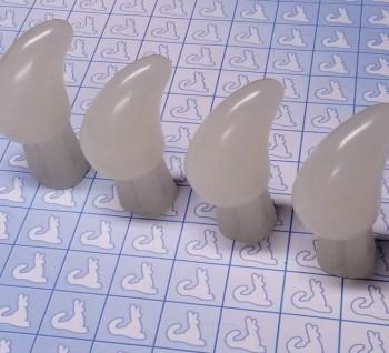 Resin Claw - Feet 114MM - Pre-made (Bone, Set of 4)